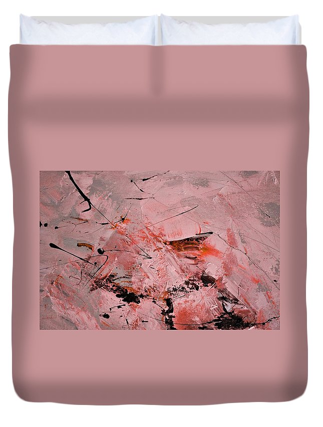 Abstract Duvet Cover featuring the painting Abstract 691121 by Pol Ledent