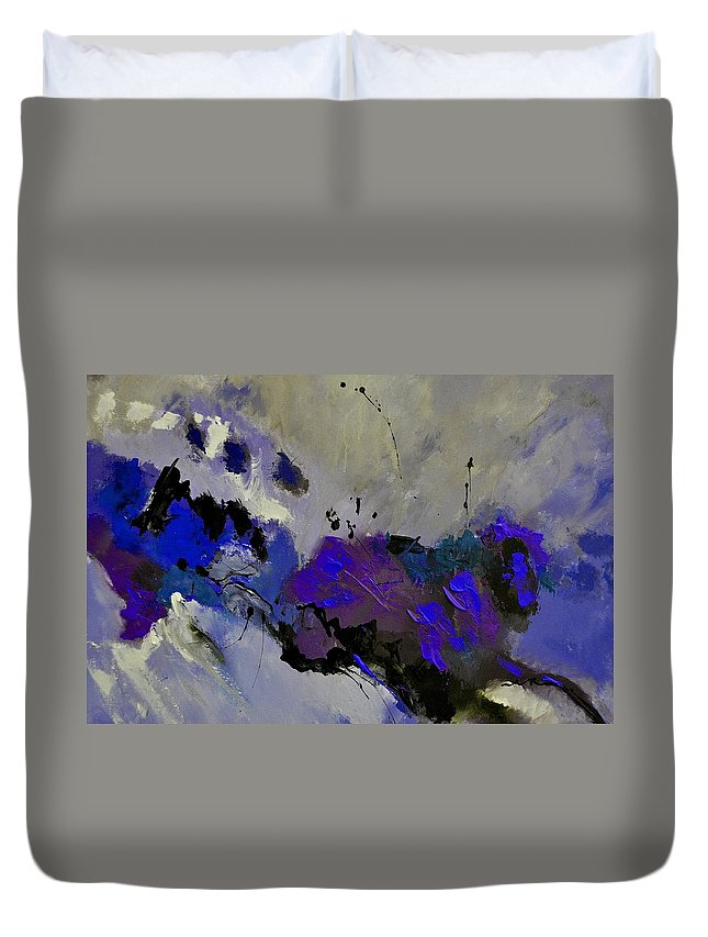 Abstract Duvet Cover featuring the painting Abstract 69451223 by Pol Ledent