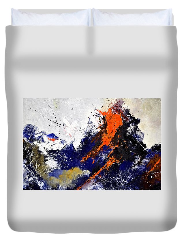 Abstract Duvet Cover featuring the painting Abstract 6954238 by Pol Ledent