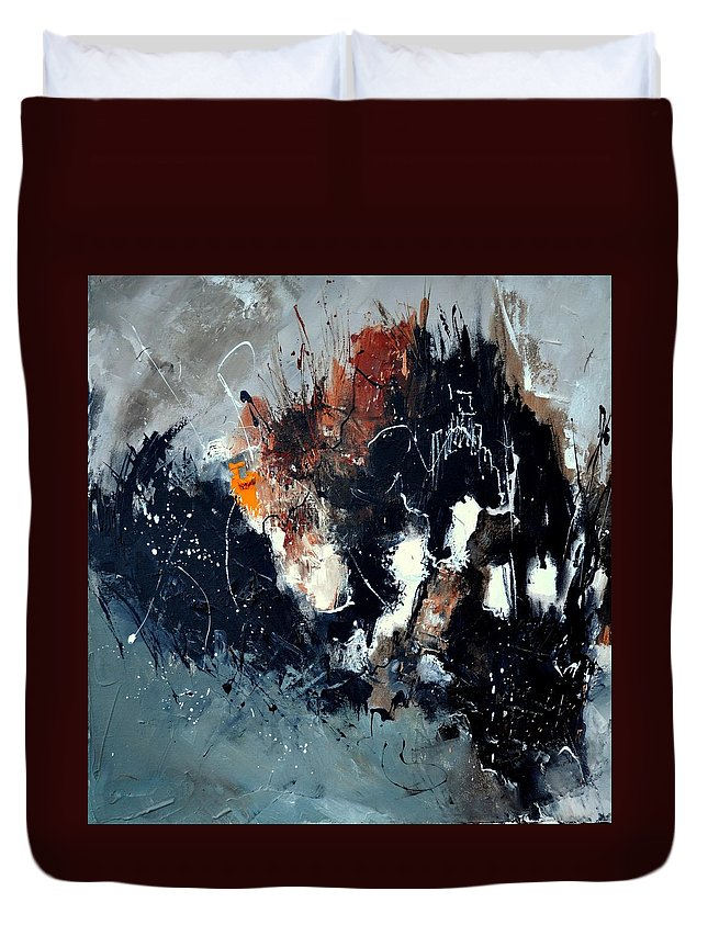 Abstract Duvet Cover featuring the painting Abstract 8811114 by Pol Ledent