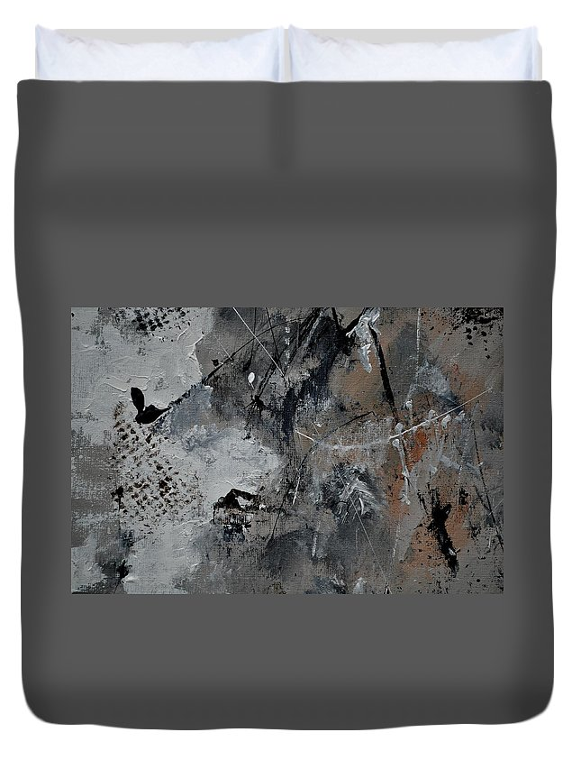 Abstract Duvet Cover featuring the painting Abstract 961111 by Pol Ledent