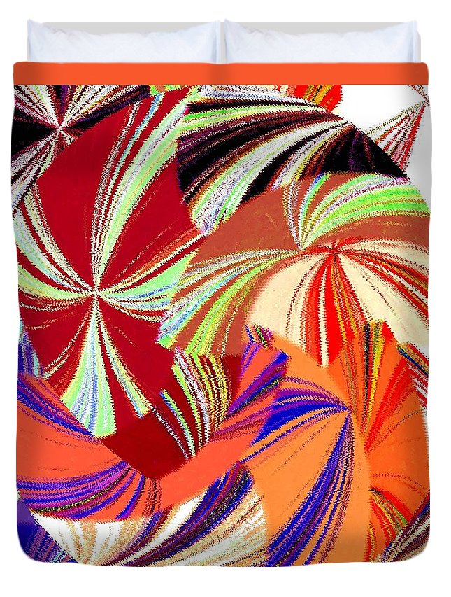 Abstract Fusion Duvet Cover featuring the digital art Abstract Fusion 56 by Will Borden