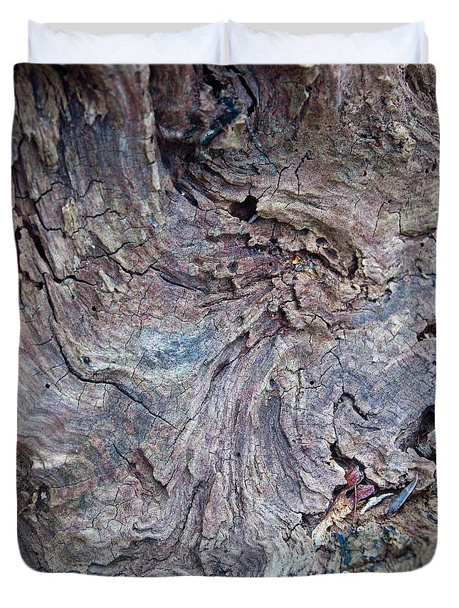 Wood Duvet Cover featuring the photograph Abstract In Blue 1 by Douglas Barnett