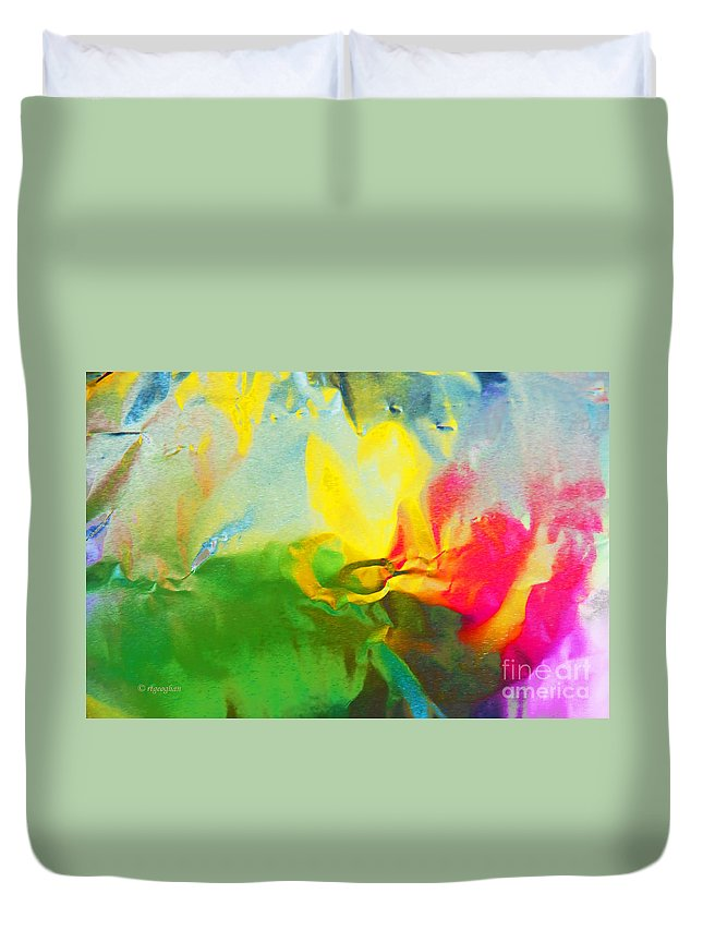 Abstract Photography Duvet Cover featuring the photograph Abstract In Full Bloom by Regina Geoghan