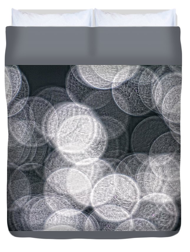 Light Duvet Cover featuring the photograph Abstract Photo Of Light Reflecting by Robert Postma