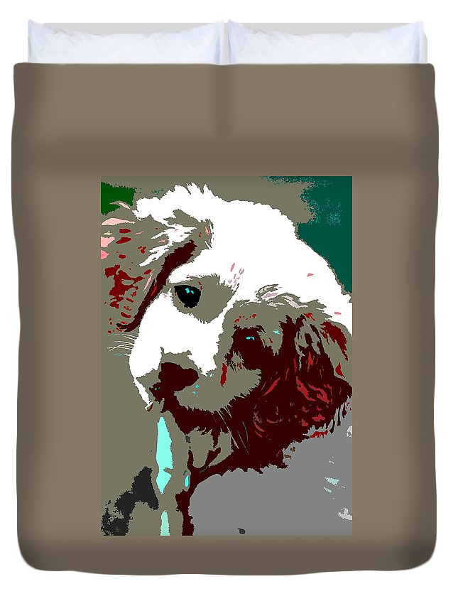 Duvet Cover featuring the photograph Abstract Pup by Burney Lieberman