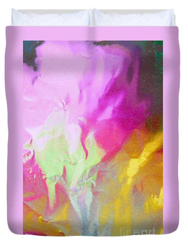 Abstract Photography Duvet Cover featuring the photograph Abstract Summer's Bounty by Regina Geoghan