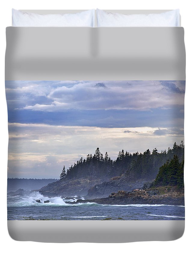 Maine Duvet Cover featuring the photograph Acadian Cove by Rick Berk