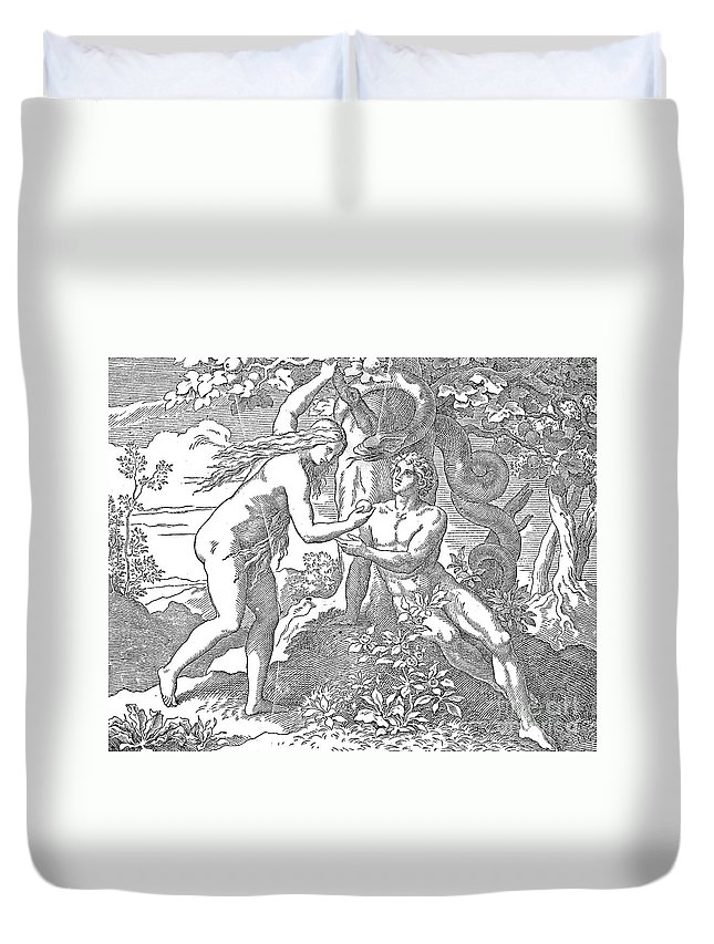 Adam Duvet Cover featuring the photograph Adam & Eve by Granger