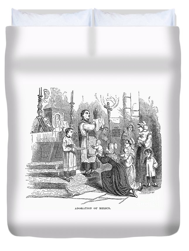 Adoration Duvet Cover featuring the photograph Adoration Of Relics by Granger
