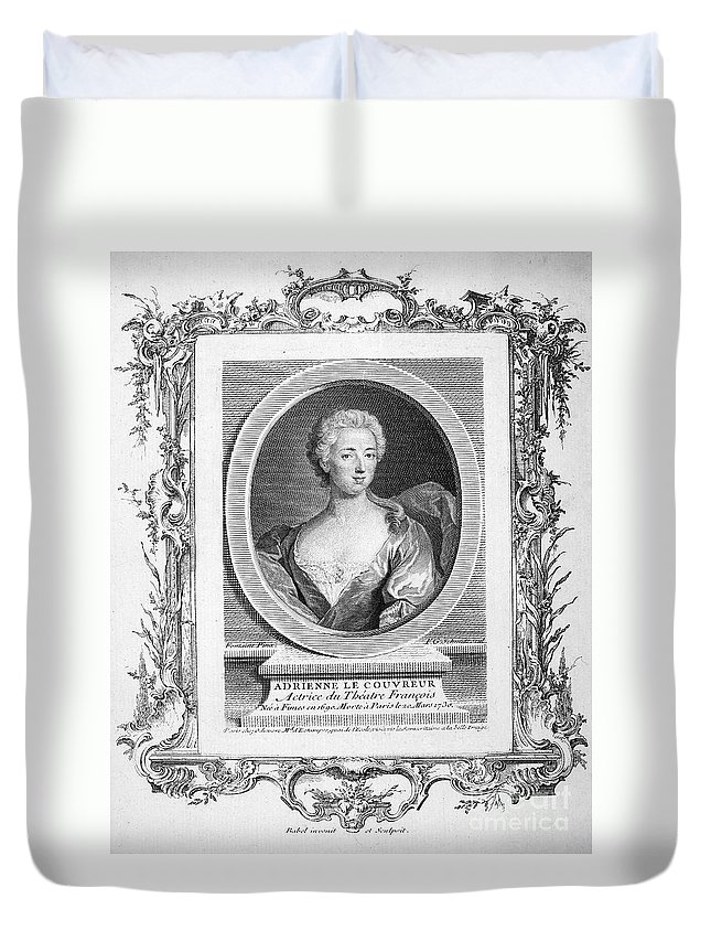 1777 Duvet Cover featuring the photograph Adrienne Lecouvreur by Granger