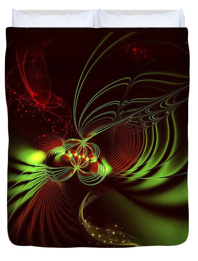 Fractal Duvet Cover featuring the digital art Advent by Jutta Maria Pusl