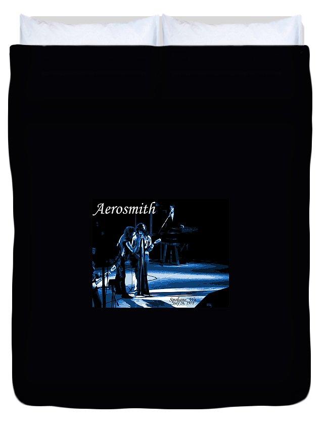 Aerosmith Duvet Cover featuring the photograph Aerosmith In Spokane 12c by Ben Upham