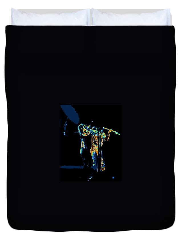 Aerosmith Duvet Cover featuring the photograph Aerosmith In Spokane 27c by Ben Upham