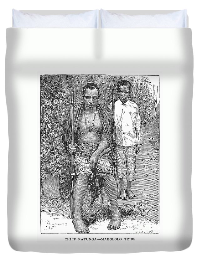 1889 Duvet Cover featuring the photograph Africa: Makololo Chief by Granger