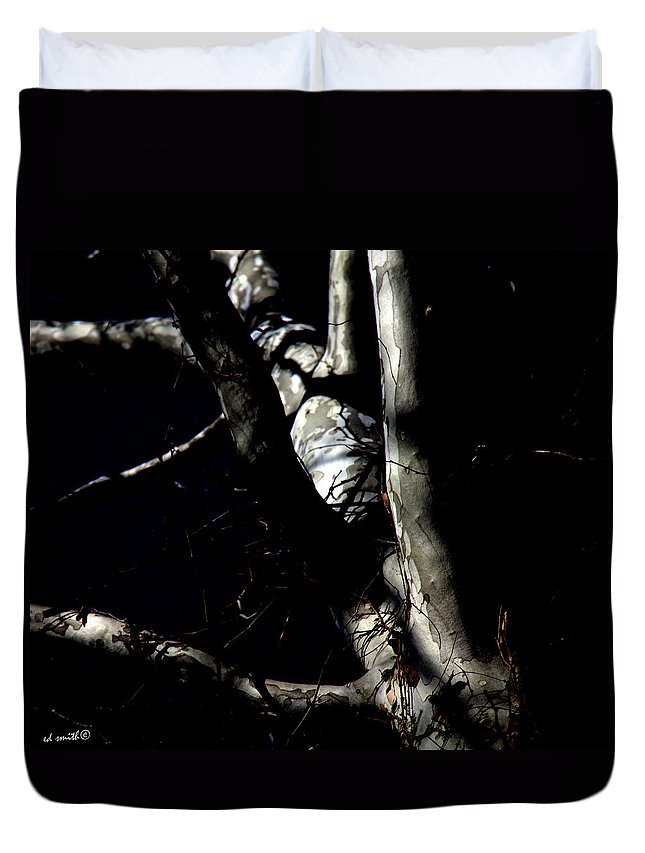 After Dark Duvet Cover featuring the photograph After Dark by Ed Smith