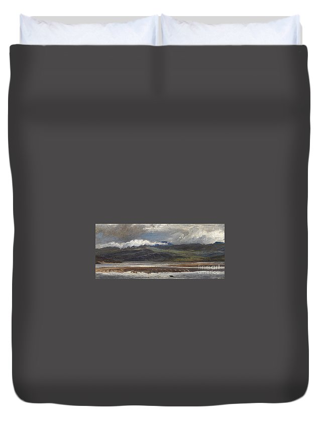 Seascape Duvet Cover featuring the painting After Rain by Henry Moore