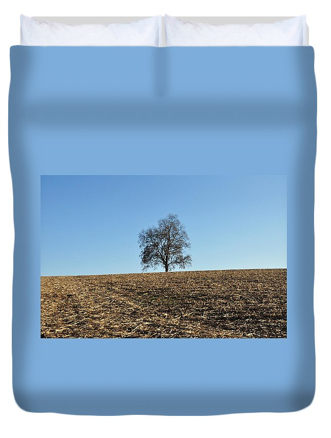Harvest Duvet Cover featuring the photograph After The Harvest by Bill Cannon