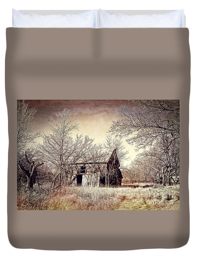 Barn Duvet Cover featuring the photograph After The Harvest by Sharlotte Hughes