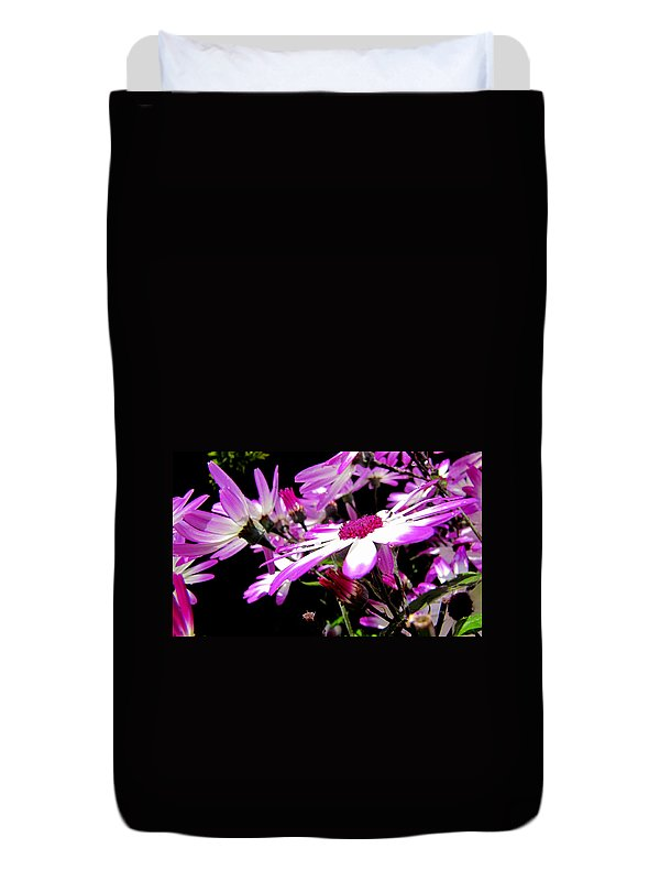 Flowers Duvet Cover featuring the photograph After The Rain by Barbara Walsh