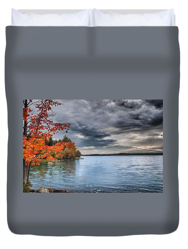 Fall Color Duvet Cover featuring the photograph After The Rains by Guy Whiteley