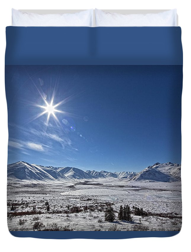 Light Duvet Cover featuring the photograph Afternoon Sun Along The Dempster by Robert Postma
