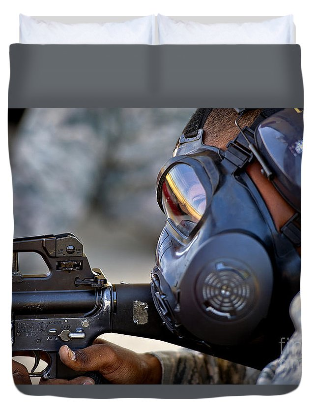 Combat Duvet Cover featuring the photograph Air Force Basic Military Training by Stocktrek Images