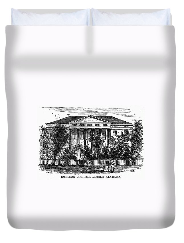 1868 Duvet Cover featuring the photograph Alabama: Emerson College by Granger