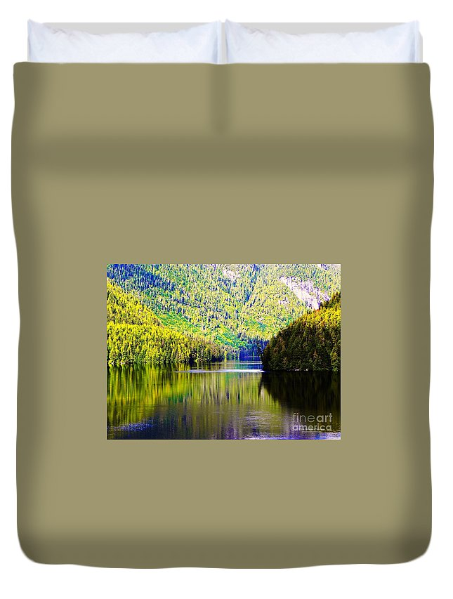 Alaska Duvet Cover featuring the photograph Alaskan Reflection by Tisha Clinkenbeard