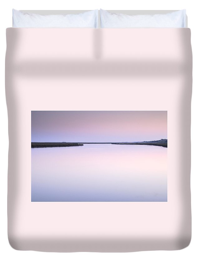Sunset Duvet Cover featuring the photograph Algarve Portugal by Guido Montanes Castillo