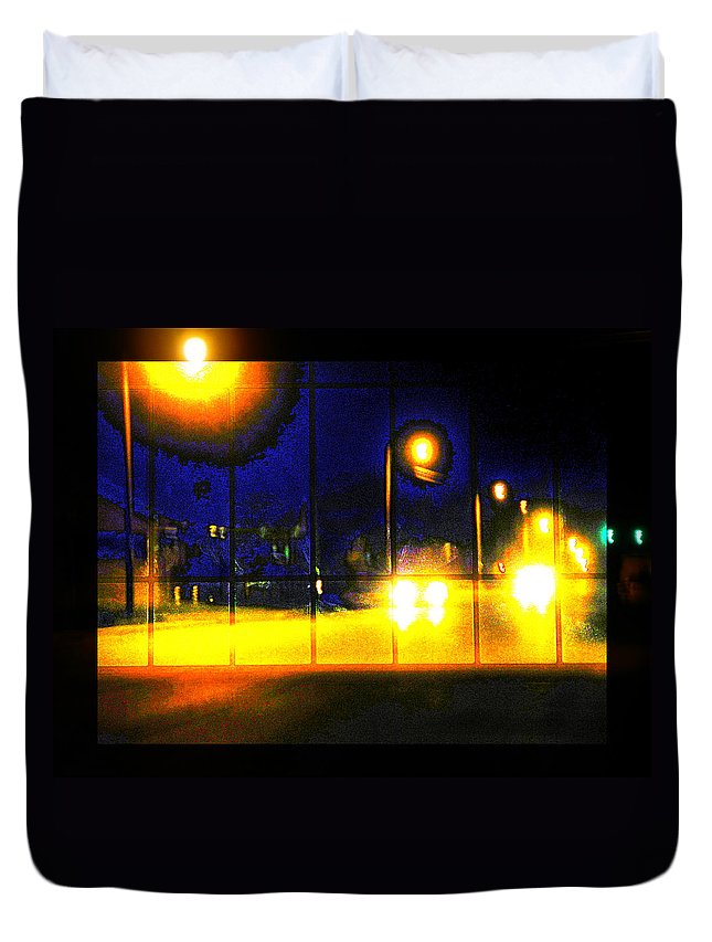 Abstract Duvet Cover featuring the photograph All I Need To Know Of Midnight by Lenore Senior