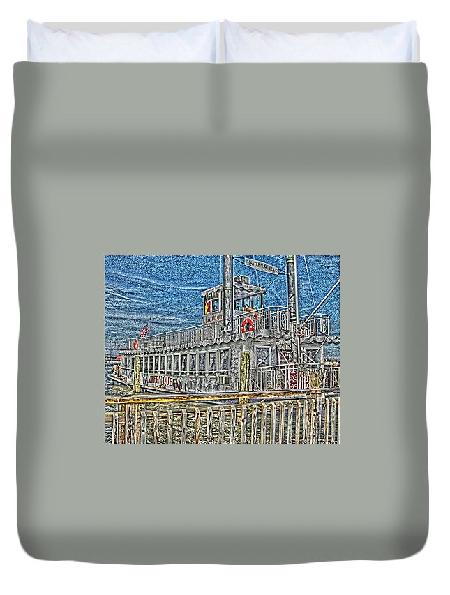 Riverboat Duvet Cover featuring the photograph All In by Tom Leach