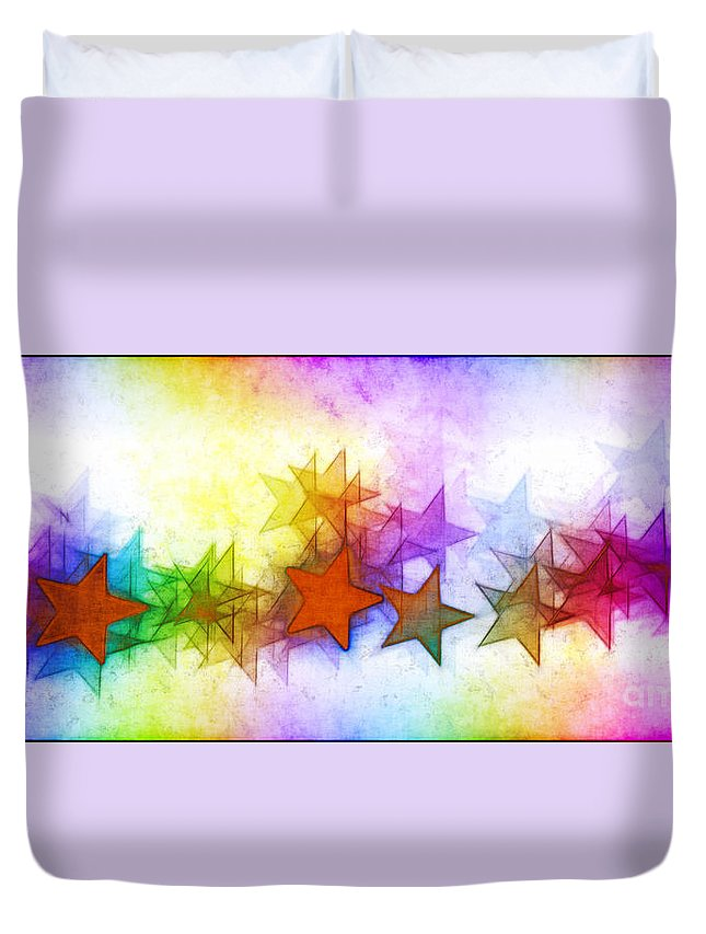 Rainbow Duvet Cover featuring the photograph All The Stars Of The Rainbow by Judi Bagwell