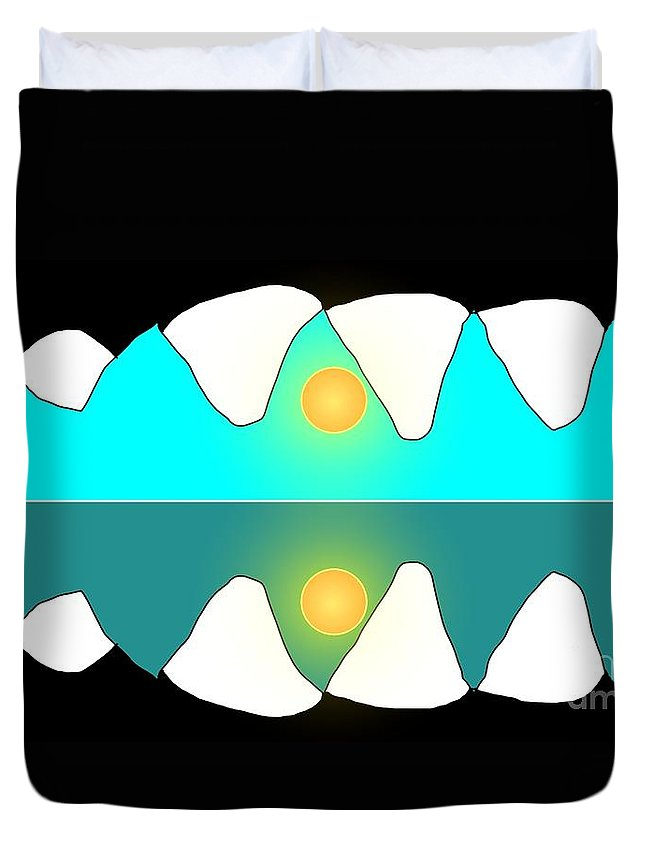 Alligator Duvet Cover featuring the painting Alligator Sunrise by George Pedro