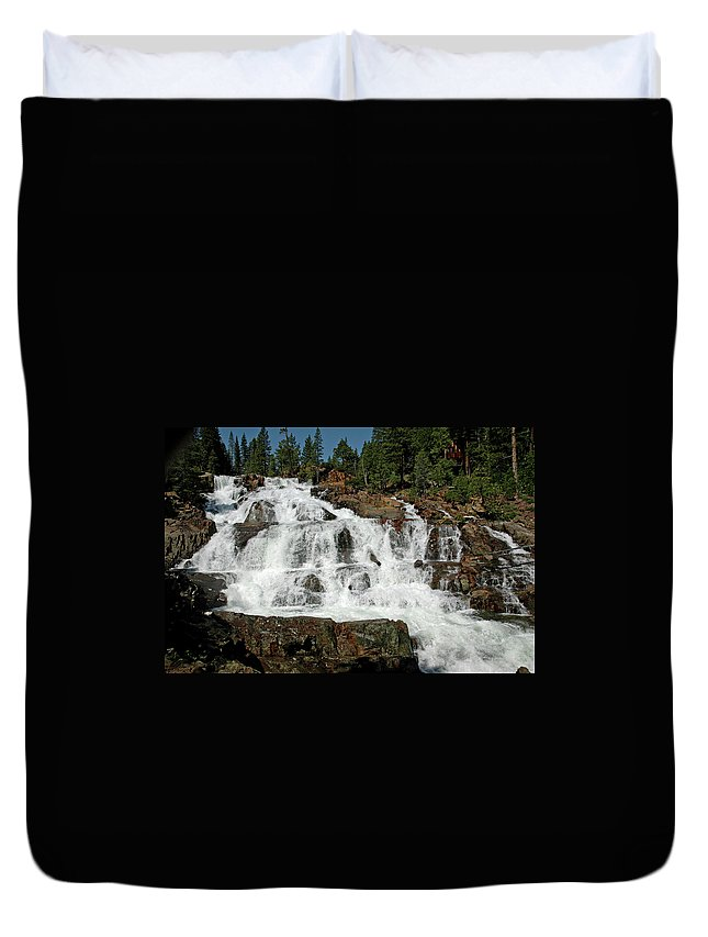 Usa Duvet Cover featuring the photograph Alpine Falls Glen Alpine Falls Lake Tahoe by LeeAnn McLaneGoetz McLaneGoetzStudioLLCcom