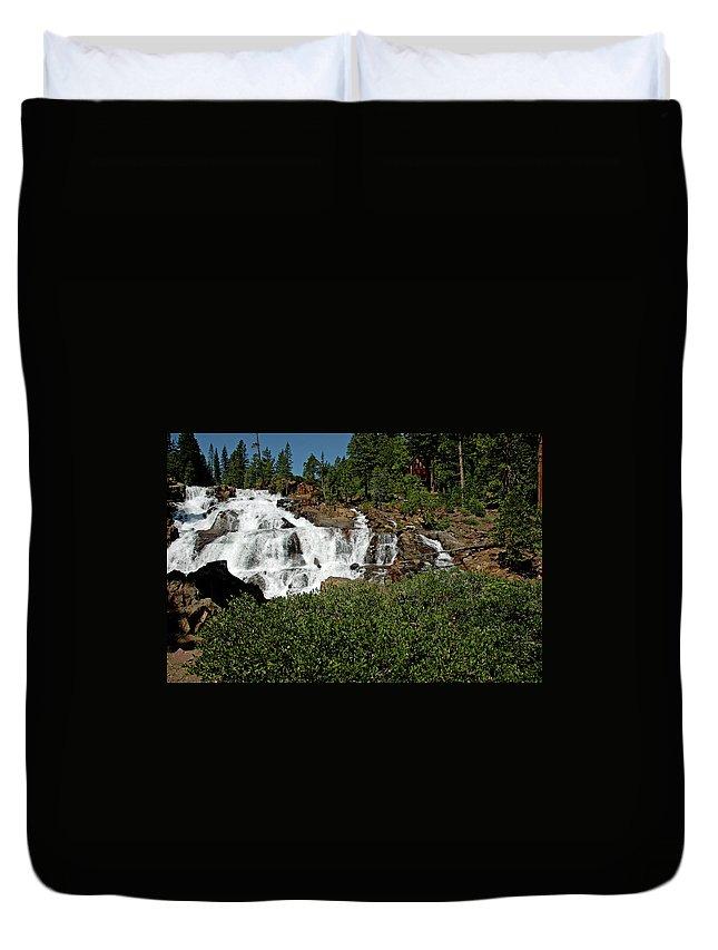 Usa Duvet Cover featuring the photograph Alpine Falls Lake Tahoe II by LeeAnn McLaneGoetz McLaneGoetzStudioLLCcom