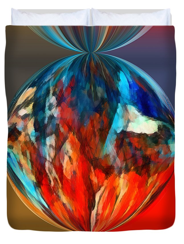 Perception Duvet Cover featuring the mixed media Alternate Realities 1 by Angelina Vick