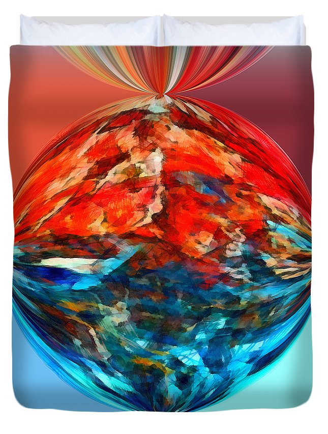 Perception Duvet Cover featuring the mixed media Alternate Realities 2 by Angelina Vick