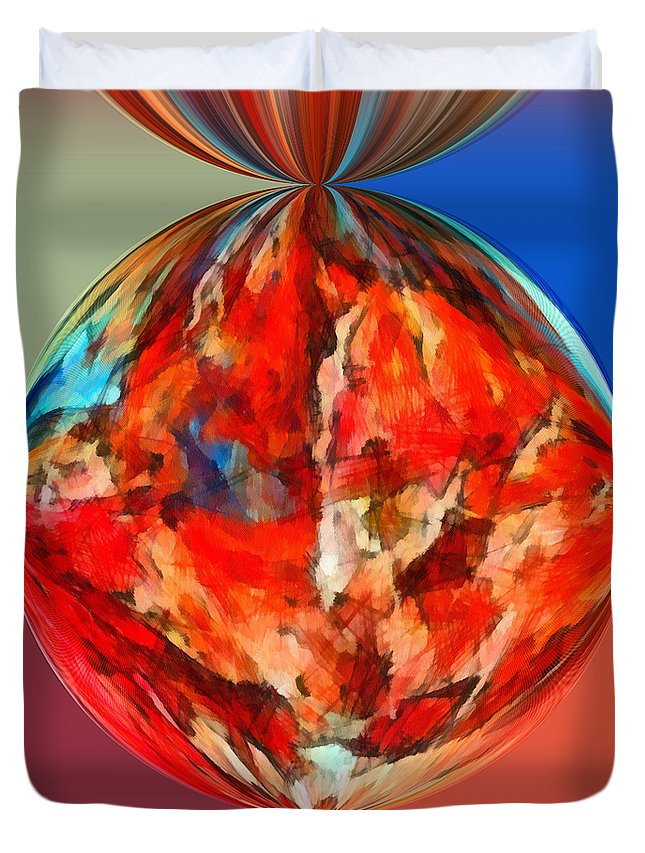 Perception Duvet Cover featuring the mixed media Alternate Realities 3 by Angelina Vick