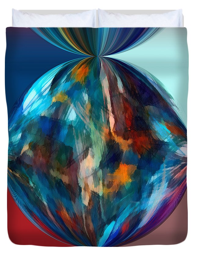 Perception Duvet Cover featuring the mixed media Alternate Realities 4 by Angelina Vick