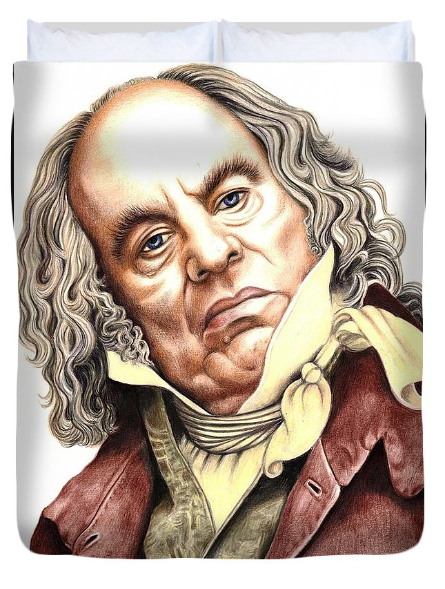 Alun Armstrong Duvet Cover featuring the photograph Alun Armstrong Plays Jeremiah Flintwich by Margaret Sanderson