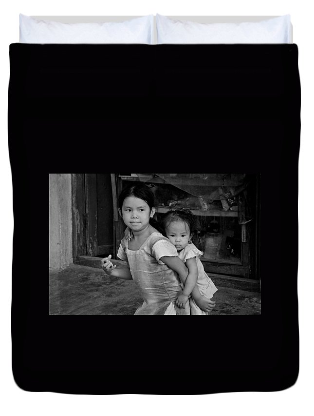 Children Duvet Cover featuring the photograph Always Together by Valerie Rosen
