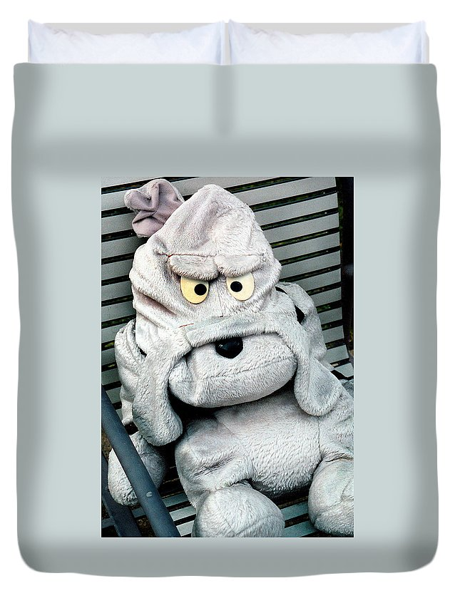 Animal Doll Duvet Cover featuring the photograph Am I Mad by Burney Lieberman