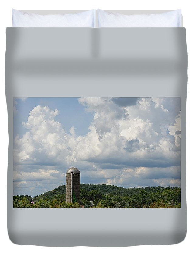 American Duvet Cover featuring the photograph American Country Life by Maria Urso