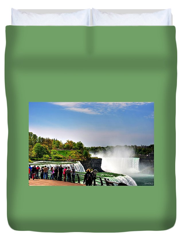 Duvet Cover featuring the photograph American Falls by Michael Frank Jr