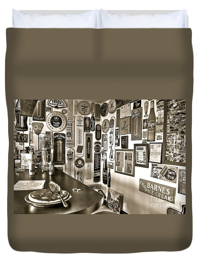 Pie Duvet Cover featuring the photograph American Pie by Brenda Giasson