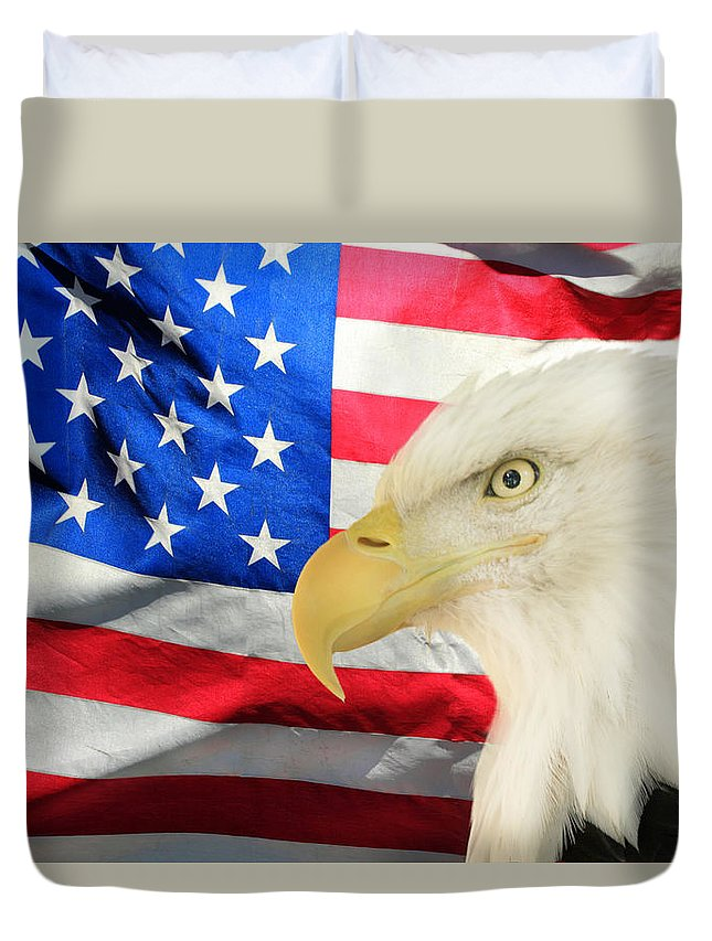 America Duvet Cover featuring the photograph American by Shane Bechler
