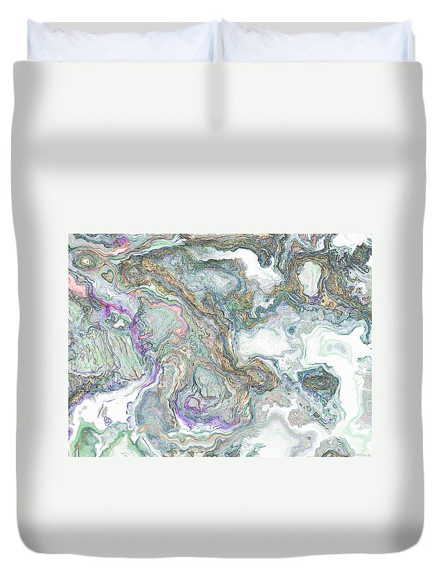 Abstract Duvet Cover featuring the photograph Ancient Cut Stone I by Debbie Portwood