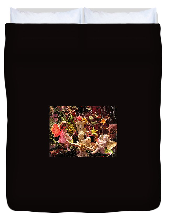 Angel Duvet Cover featuring the photograph Angel Love by Anthony Wilkening