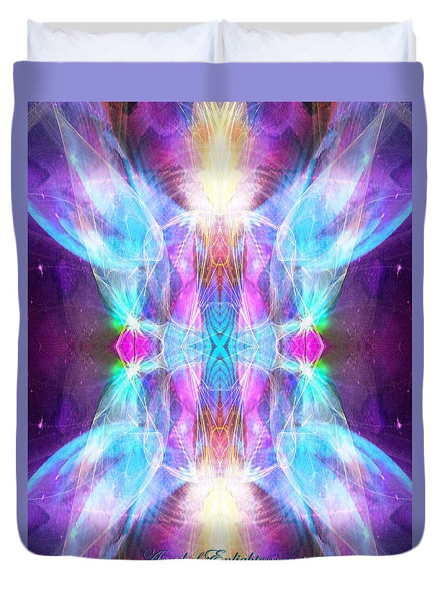 Angel Duvet Cover featuring the digital art Angel Of Enlightenment by Diana Haronis